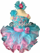 Infant//toddler//baby//Kids Floral Lace Beads Pageant Dress 9~12 Months G222
