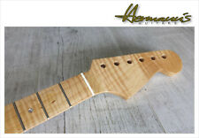 Stratocaster One Piece Roasted Curly Flamed Maple Neck, Abalon Dots, 22 Frets/22