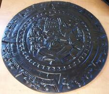 "CONCRETE Cement Plaster BORDER ART STAMP Aztec Sun Dial 15"" Imprint MAT New"