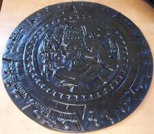"""Concrete Cement Plaster Border Art Stamp Aztec Sun Dial 15"""" Imprint Mat New"""