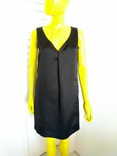 CHLOE Black Linen Dress with 100% Silk Lining Size 36 Made in France NWT