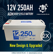 2 x NEW 12V 250AH SLA AGM DEEP CYCLE BATTERY Marine CARAVAN SOLAR CAMPER > 200ah