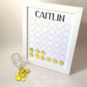 Children's Reward Chart, Gold Star Chart, Behaviour Chart, Kids, Magnet