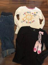 3 pc girls lot THE CHILDRENS PLACE GYMBOREE SHIRT sunshine DENIM CAPRIS 6X-7