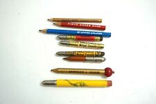 9 Vintage Bullet And Other Pencils Advertising ~ Mutual Casuality, Insurance, Re