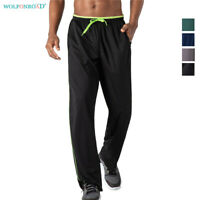 Men's Jogger Pants Athletic Sweatpants Mesh Track Running Performance Trousers