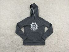 Adidas Boston Bruins Hoodie Women Medium Gray Silver White Climawarm Pullover