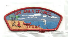 BAY AREA T-1 CSP MINT Vintage TX Boy Scout Mgd Council Patch- PB
