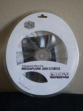 NEW - Cooler Master Megaflow 200mm Red LED Transparent Silent Fan - 110CFM, 19dB