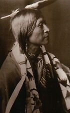 Young Jicarilla Apache Indian Native American, Picture by Edward Curtis Postcard