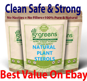 Plant Sterols 600mg 95% Phytosterol , Vegan Capsules Strong & Effective Natural