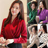 Autumn Women Ladies V Neck Long Sleeve Chiffon Casual Office OL Shirt Blouse Top