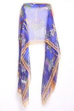 Blue Tangerine Magenta Yellow Bright Green 'Rio' The Movie Inspired Scarf S156