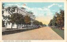 Eustis Florida Grand View Hotel Street View Antique Postcard K58615