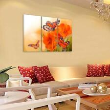 """""""Flowers&Butterfly"""" HD Canvas Print Unframed Canvas Picture Wall Art Painting"""