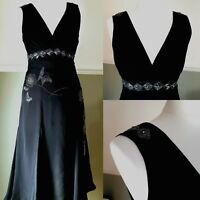 Ted Baker Black Silk Cocktail Dress Party Fit & Flare Classic LBD Sz 1 UK 8