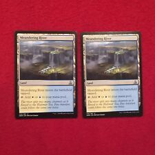 MTG X2 Meandering River Oath of the Gatewatch Magic the Gathering Land Cards Unc