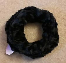 Black Scarf Snood wrap around neck warmer The Faux Fox Co New with label
