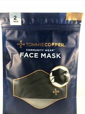 Tommie Copper Community Wear Black Adjustable Face Mask 2 Pack OS COPPER ZNERGY