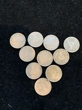 10 Piece Lot XF or Better! LIBERTY V NICKELS