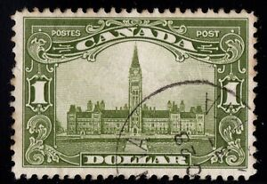 #159 Parliament $1  Canada used  well centered cv $120