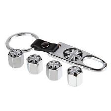 Sliver Car Wheel Tire Valve Union Jack Stem Air Caps plugs For All Auto S265