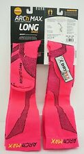 Arch Max Archfit Run Long Socks Color Pink -Size Medium- Wmns Sz 8.5 thru 10 US
