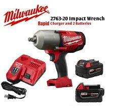 """Milwaukee 2763-22 18V 1/2"""" Impact Wrench (2) 5.0Ah Batteries Rapid Charger NEW"""