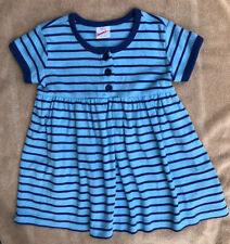 Hanna Andersson Size 90 (3T) Blue Striped Play Dress