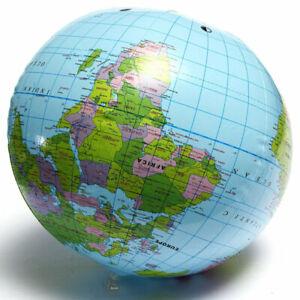 38CM PVC World Globe Earth Atlas Ball World Map Inflatable Geography Toy Tutor