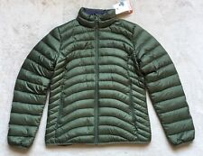 Marmot Aruna Womens 600 Fill Down Jacket MEDIUM Hoodie Puffer Olive Beetle Green