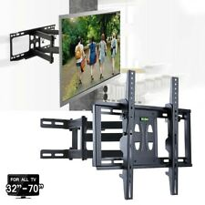 "23-70"" Inch TV Wall Bracket Mount Tilt and Swivel with Spirit Level Double Arms"