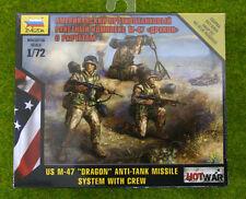 "U.S. M47  ""DRAGON"" ANTI-TANK MISSILE SYSTEM WITH CREW 1/72 Zvezda Hot War set..."