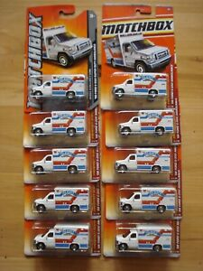 Matchbox 2011 #54 Ford Ambulance Lot of 10 with card variation