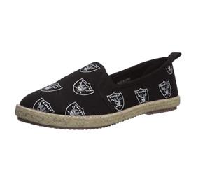 FOCO NFL Women's Oakland Raiders Espadrille Canvas Shoe