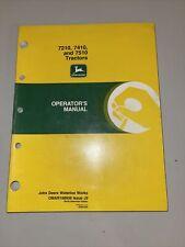 John Deere 7210 7410 7510 Tractor Operator's Manual Omar168939 J9 Waterloo Works