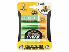 2x Rechargeable D Batteries 4000mah JCB S6419