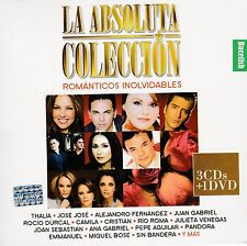 La Absoluta Coleccion Romanticos Inolvidables 3CD+1DVD Thalia,Jose Jose,Rio Roma