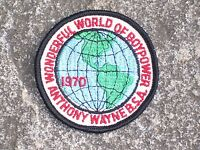 BSA Boy Scout Wonderful World of Boy power 1970 Patch Boy Scout Patch Vintage