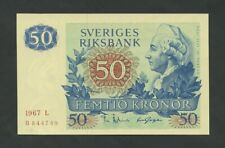 SWEDEN  50 kronor  1967  P53a  Uncirculated  Banknotes