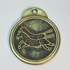 VTG  Brass MaPae 2 Horse Requisition Tablet Korean Secret Law Officer Badge Coin