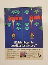 Vintage 1983 Atari  2600 Centipede video game ad **Free Shipping**
