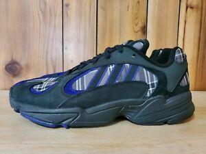 NWT adidas Yung-1 Purple Plaid Shoes Men's Size 11