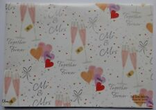 2 Sheets Simon Elvin Gift Wrap WEDDING DAY TOGETHER FOREVER Wrapping Paper Tag