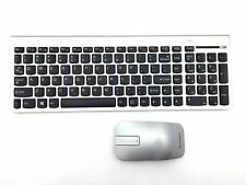 NEW IBM / Lenovo SK-8861 Silver Wireless Slim Keyboard & Mouse ZTM600 mouse set