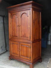 Rare Vintage Armoire / Dixie Furniture / USA Made/ Cherry Finish over Solid Pine