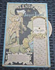 GIACOMO INAUDI dit JACQUES INAUDI rare calendrier système disque 1791-1965 PILLS