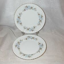 2 ROYAL STANDARD DAWN SALAD PLATES FINE BONE CHINA DINNERWARE ENGLAND BLUE FLOWE