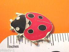 Lady Bug Ladybug - hat pin , lapel pin , tie tac , hatpin scarf pin Gift Boxed
