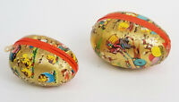 PAIR of CUTEST VINTAGE MADE IN W. GERMANY PAPER MACHE EASTER BUNNY EGG